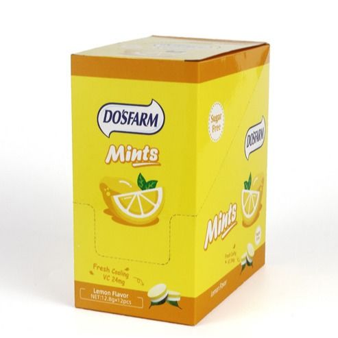 Lemon Flavor Vitamin C Sugar Free Low Calorie Candy Natural Confectionery