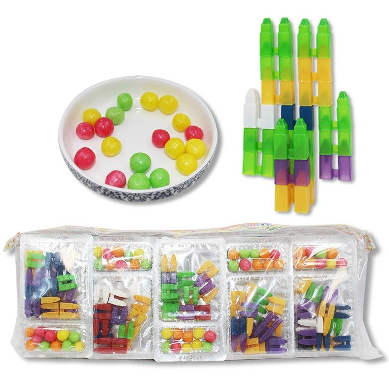 Novelty Puzzle DIY Building Blocks Toy With Compressed Candy